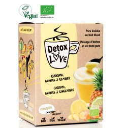 DetoxLove ORGANIC : Turmeric & Pineapple - No Added Sugar